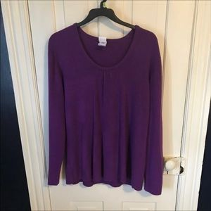 4x JMS Purple scoop neck sweater